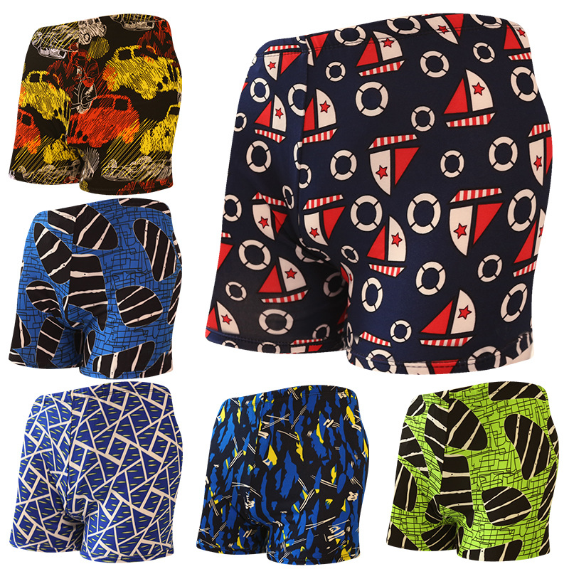 Fashion MEN'S Swimming Trunks Boxer Printed Quick-Dry MEN'S Swimming Trunks Autumn And Winter New Style Hot Springs Men's Swimwe