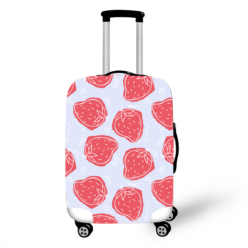 Elastic Luggage Protective Cover Case For Suitcase Protective Cover Trolley Cases Covers 3DTravel Accessories Strawberry Pattern
