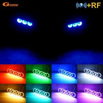 цена на For Alfa Romeo 159 2005-2011 Excellent RF Bluetooth Controller Multi-Color Ultra bright RGB LED Angel Eyes Halo Ring kit