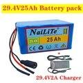 Подлинный 24 V 25ah аккумулятор 250W 350W 29,4 V 7s5p, для сумки инвалидной коляски Электрический велосипед литий-ионный аккумулятор + 2A зарядное устрой...