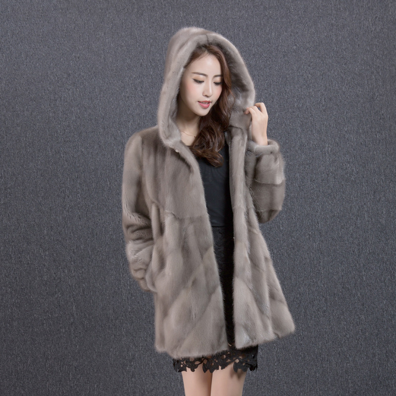 Real Mink Coat Female Jacket Winter Coat Women Clothes 2020 Luxury Natural Fur Coats Warm Outwear Manteau Femme MY4390