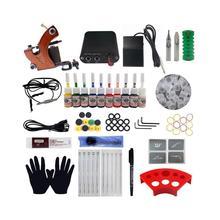 Professional Tattoo Kit Coil Tattoo Machine Set Power Tools Art Needles Supply Body S0I8