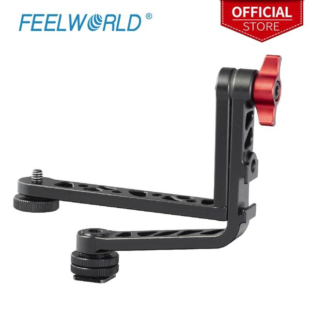 Feelworld New Dual L Tilt arm  Aluminum for Feelworld FW279S F5 FW568 FW279 F570 T7 DSLR Camera Field Monitor Stabilizer Gimbal