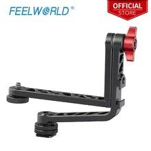 Feelworld nouveau double L bras inclinable en aluminium pour Feelworld FW279S F5 FW568 FW279 F570 T7 DSLR caméra moniteur de champ stabilisateur cardan