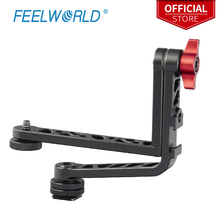 Feelworld yeni çift L Tilt kol alüminyum Feelworld FW279S F5 FW568 FW279 F570 T7 DSLR kamera alan monitörü sabitleyici Gimbal