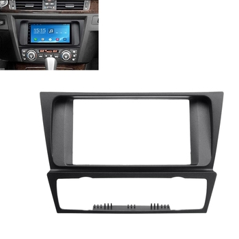 2 Din Radio Audio Fascia Fascias Panel Plate Frame DVD CD Dash Dashboard Cover for BMW 3 Series E90 E91 E92 E93 2005 - 2012 image