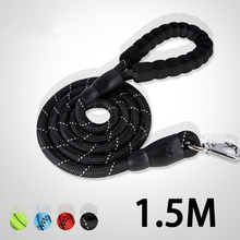 1.5M Leash Rope Pet Products Dog Leash For Large Dogs Leashes Reflective Dog Pets Lead Dog-Collar Harness Nylon Leashes
