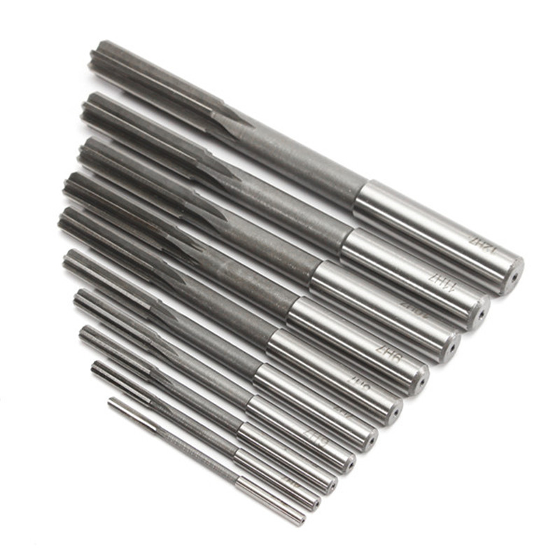 10pcs/Set HSS H7 Machine Reamer Straight Shank Milling Reamers Precision Chucking Machine <font><b>Cutter</b></font> Tool 3/4/5/6/7/<font><b>8</b></font>/9/10/11/12 <font><b>mm</b></font> image