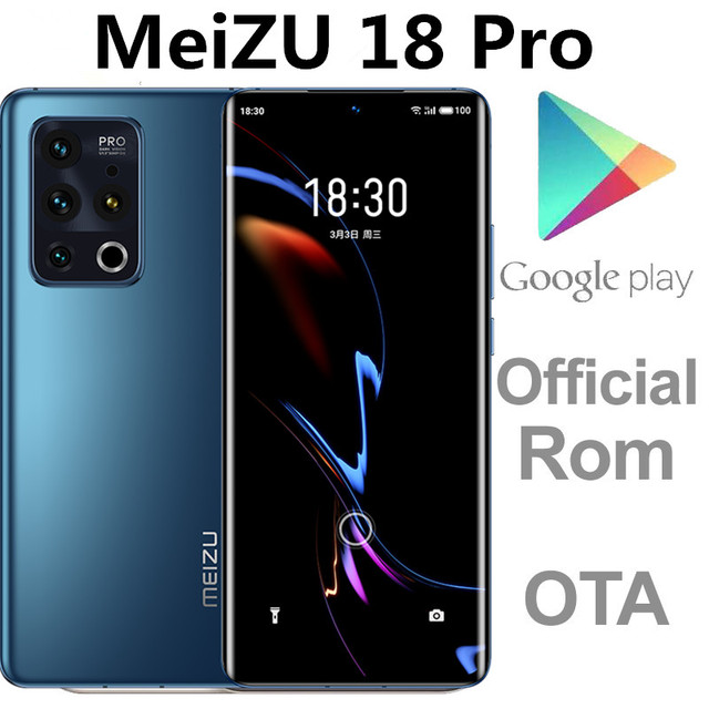 """Unlocked Meizu 18 Pro 5G Cell Phone Snapdragon 888 Octa Core 50.0MP+44.0MP 6.7"""" 3200X1440 40W Charger Android 10.0 Fingerprint 1"""