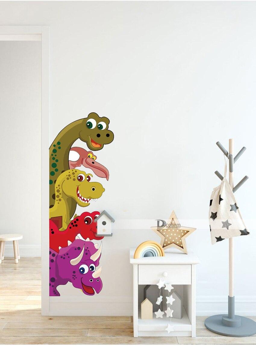 Probe Dinosaur Wall Stickers Room Decor Funny Children Bedroom Wall Art Decals