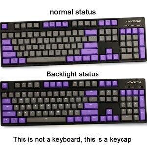 Image 2 - لوحة مفاتيح ميكانيكية GK61 خلفية مزدوجة اللون PBT مفتاح 104/87 لوحة مفاتيح ميكانيكية لوحة مفاتيح ANNE Ikbc Cherry MX