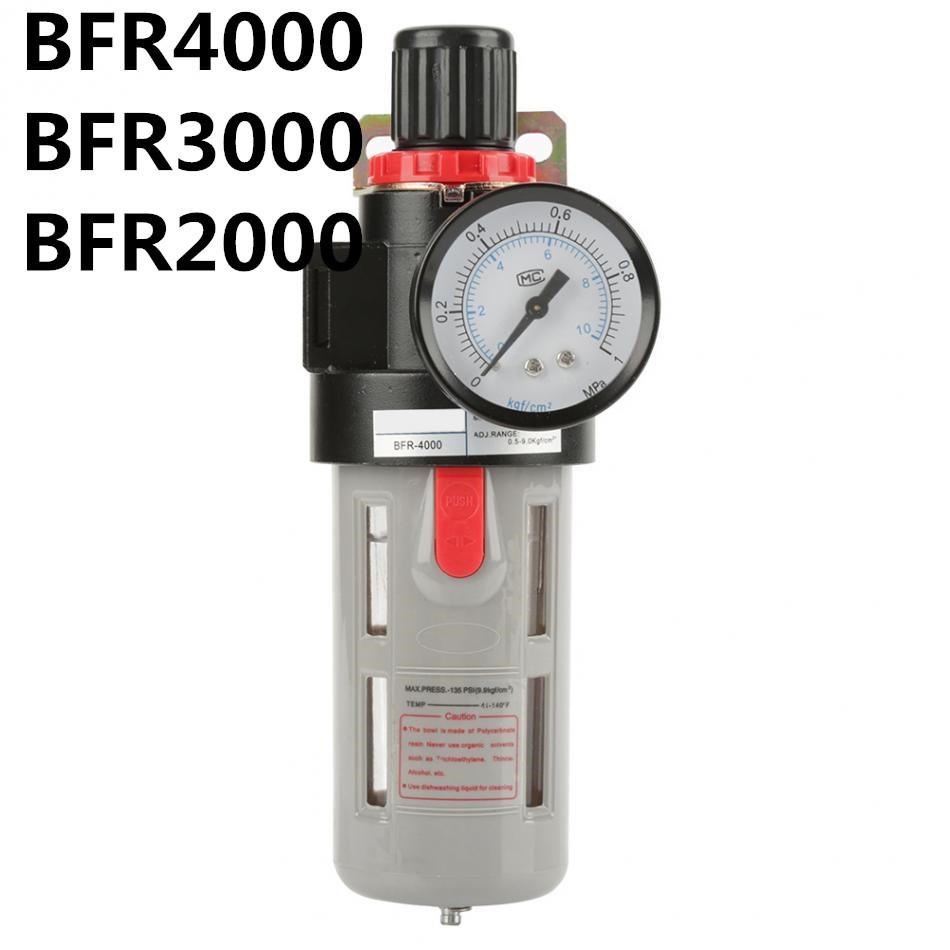 1PCS BFR2000 1/4 <font><b>BFR3000</b></font> 3/8 BFR4000 1/2 Air pump filter pressure reducing valve Oil-water separator Regulator for compressors image