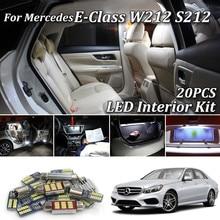 20 шт SMD светодиодные лампы белый ошибок для Mercedes E Class W212 S212 седан для автомобиля с кузовом универсал AMG 2009+ полный светодиодный Подсветка салона комплект