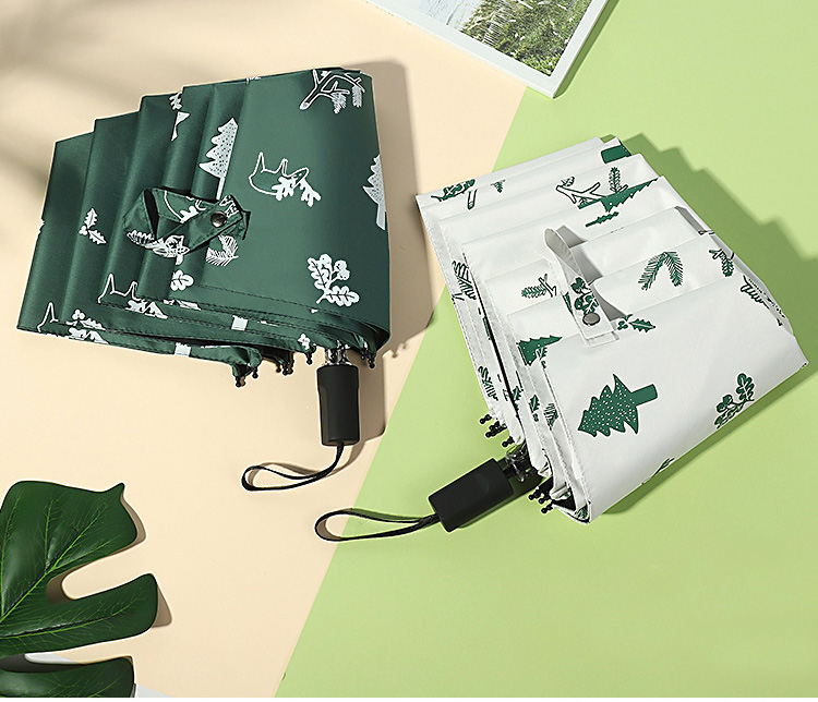 natal & elk guarda-chuva dobrável chuva feminino