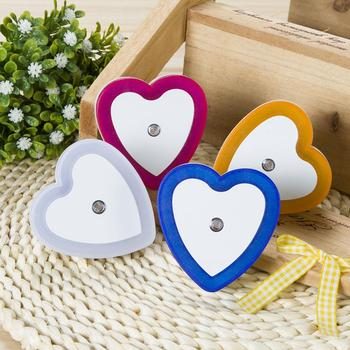 Heart-Shaped LED Night Light Automatic Sensor Hallway Bedroom Stairs Wall Lamp image