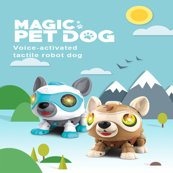 Smart Talking RC Robot Dog Walk Dance Interactive Pet Puppy Robot Dog Remote Voice Control Intelligent Electronic Toy For Kids face change recording voice change smart robots voice control educational interactive toys rc robots for children kids