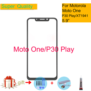 For Motorola Moto one XT1941-1 XT1941-3 XT1941-4 Touch Screen Front Outer Glass Panel Lens For Moto One LCD Front image
