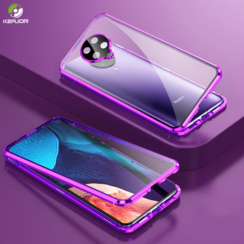Magnetic Case For Xiaomi Pocophone F2 Pro Case Dual Side Tempered Glass Cover For Poco F2 Pro Phone Case 360° Full Protection