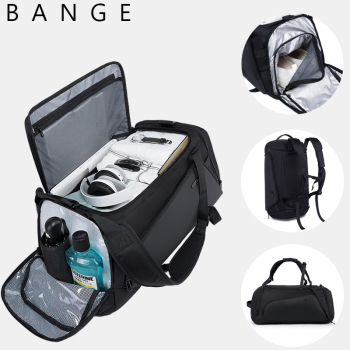 Bange Multifunction Large Capacity Men Travel Bag Waterproof Duffle Bag for Travel Backpack Hand Luggage Bags with Shoe Pouch