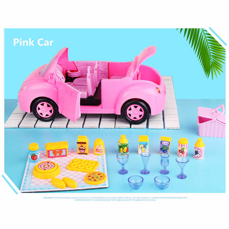 Rumah Boneka untuk LOL Boneka Bus RV Ice Cream Camping Piknik Mainan Mobil Lucu Rumah Boneka Miniatur Mainan Anak-anak Gadis Ulang Tahun hadiah Terbaik
