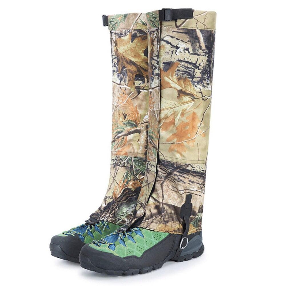1 Pair Outdoor Camping Waterproof Hiking Climbing Gaiters Snow Shoes Covers Snow Leg Gaiters Camping Trekking Climbing Hunting
