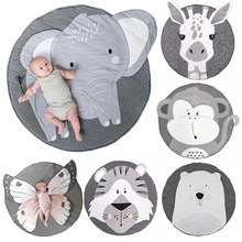 Baby Play Mat Pad Cotton Newborn Infant Crawling Blanket Animal Playmat Round Carpet Floor Rug Kids Children Room Nordic Decor