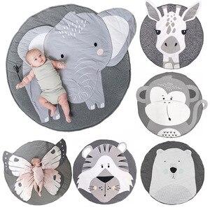 Baby Play Mat Pad Cotton Newborn Infant Crawling Blanket Animal Playmat Round Carpet Floor Rug Kids Children Room Nordic Decor(China)