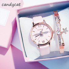 candycat Ladies Watches Ins Harajuku Wind France Niche Waterproof Atmospheric Fa