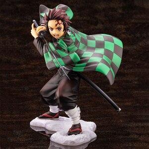 Image 5 - Iblis avcısı Kimetsu hiçbir Yaiba Artfx J Nezuko Kamado Tanjiro Kamad PVC Action Figure Anime şekilli kalıp oyuncak koleksiyonu bebek hediye
