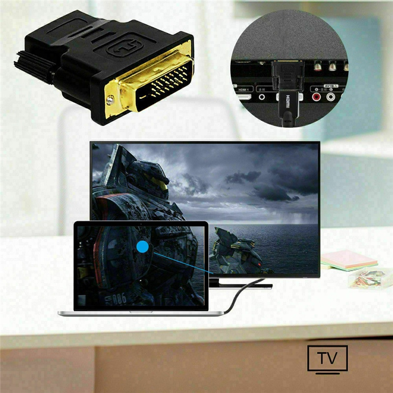 DVI To HDMI Adapter Computer Dvi Male 24 + 1 To Hdmi Female 1080P HD Cable Converter
