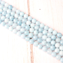 Aquamarine Dark Natural Stone Beads For Jewelry Making Diy Bracelet Necklace 4/6/8/10/12 mm Wholesale Strand