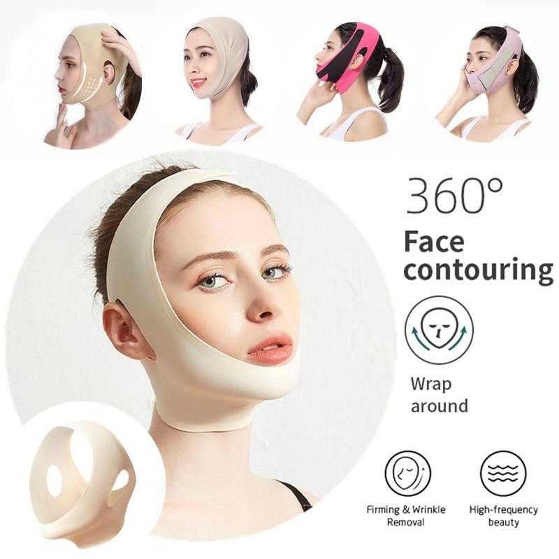 Chin Cheek Lift Up Belt Face Lift Mask Anti Wrinkle V Shaper Strap Facial Slimming Bandage Beauty Thin Face Care Tool