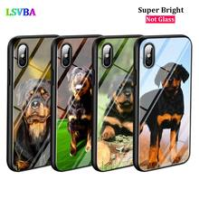 Black Cover Rottweiler dog for iPhone X XR XS Max for iPhone 8 7 6 6S Plus 5S 5 SE Super Bright Glossy Phone Case black cover japanese samurai for iphone x xr xs max for iphone 8 7 6 6s plus 5s 5 se super bright glossy phone case