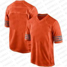 Популярные Молодежные футбольные фанаты Чикаго спортивные футболки Халиль Мак Вальтер Пейтон Brian Urlacher Trubisky Cohen Jackson оранжевые майки