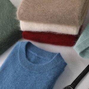 Image 4 - Zocept Winter Men sweter norek z kaszmiru swetry dla człowieka Casual O Neck Warm Fit odzież nowa odzież męska dzianinowy sweter topy
