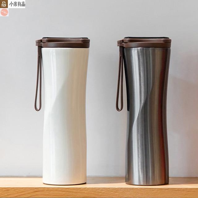Youpin オリジナルキスキス魚スマートステンレス鋼熱真空水ボトル感熱温度センサーとコーヒー