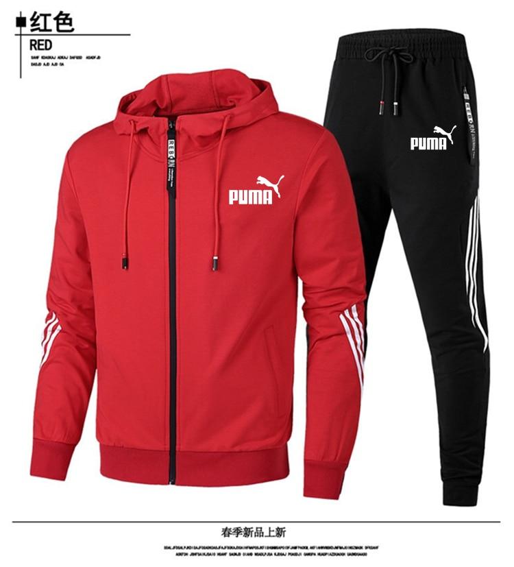 Brand Men's Suit Brand Sportswear Track Suit Suit Men's Zipper Sports Hoodie + Pants Suit Casual Jacket Sportswear Men's Hoodie