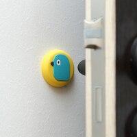 Z darmowym przepychaczem cartoon drzwi ssania silikonowy bumper ogranicznik do drzwi uchwyt łazienkowy zderzak. w Szyldy do klamek od Dom i ogród na