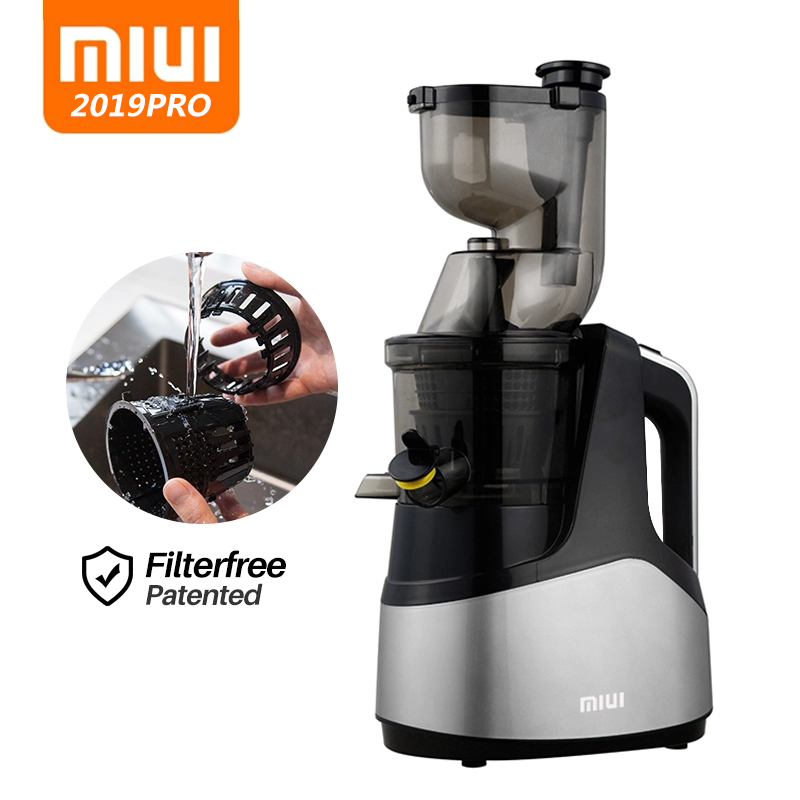 Cold Press Juicer Slow Masticate 7 Level Extractor Easy Clean Filterfree Innovat Quiet Motor Large Diameter MIUI 2019 NEW PRO