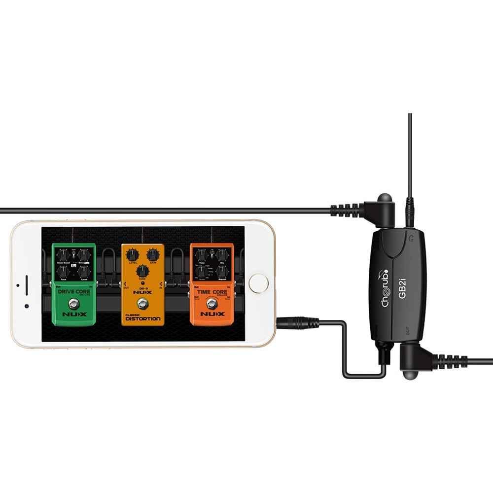 כרוב GB2i גיטרה אודיו מחבר ממשק מערכת AMP מגבר גיטרה ממיר מתאם כבל שקע עבור טלפון