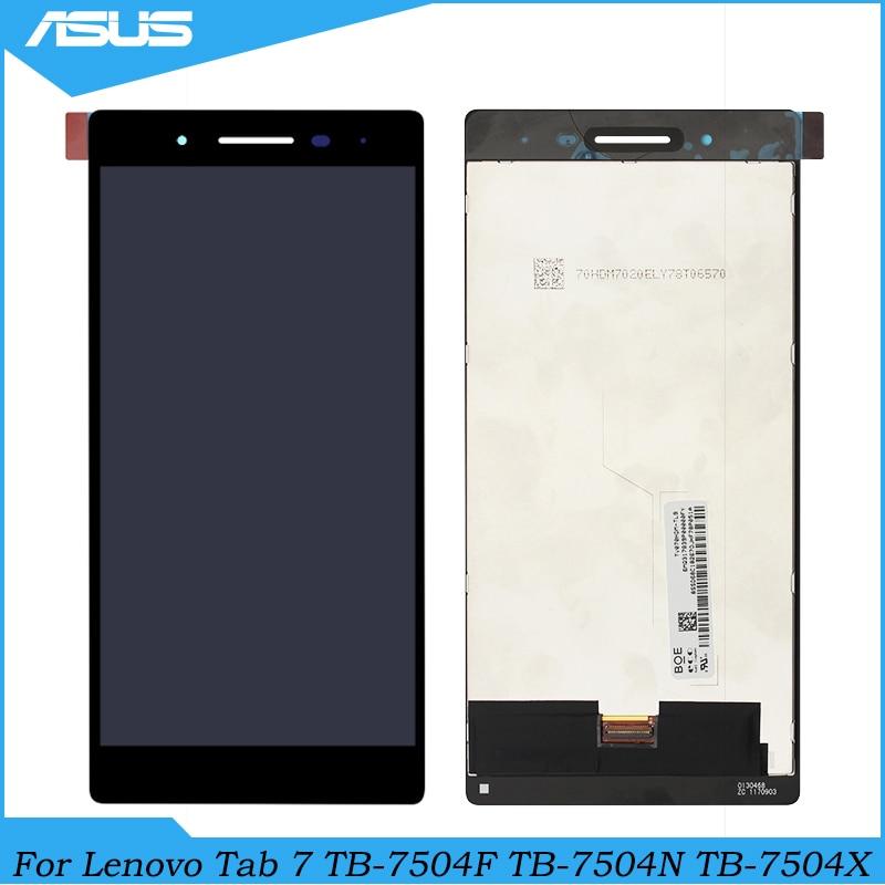 Para lenovo tab 7 tb-7504 TB-7504F TB-7504N TB-7504X display lcd touch screen assembléia peças de reposição para lenovo 7504 lcd