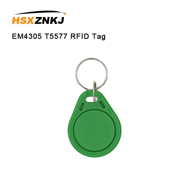 10/50/100 Color Random Em4305 T5577 Rfid Tag Access Control Card Sticker 125khz Access Card Replicator Repeated Write Keychain