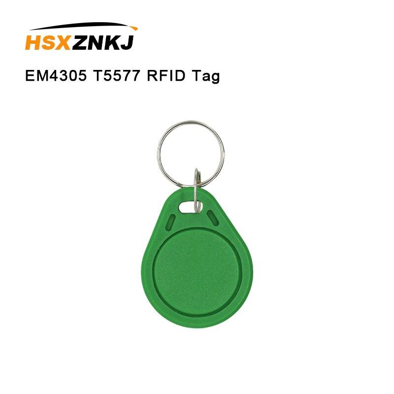 10/50/100 Color Random Em4305 T5577 Rfid Tag Access Control Card Sticker 125khz Access Card Replicator Repeated Write Keychain