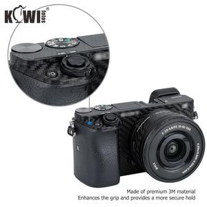 Image 4 - KIWIFOTOS Kamera Körper Abdeckung Carbon Faser Film Kit Für Sony A6000 + 16 50mm Objektiv Haut Anti  scratch Anti Slide Kameras 3M Aufkleber