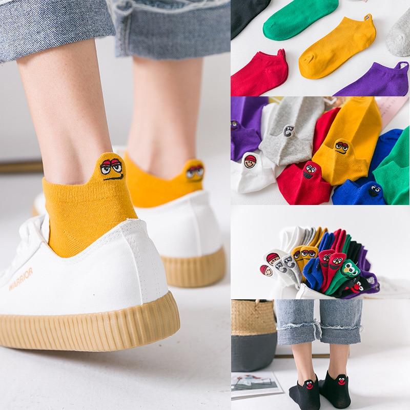 Unisex Creative Socks Happy Fashion Ankle Funny Socks Kawaii Print Expression US