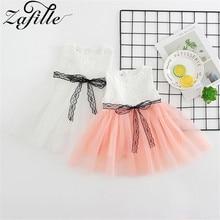 цена на ZAFILLE Summer Baby Girls Dress Toddler Infant Girls Clothing Kids Summer Dress Lace Princess Party Dress Cotton Children Cloths