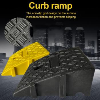 Portable Lightweight Curb Ramps Heavy Duty Plastic Threshold Ramp Kit for Car Trailer Truck Bike Motorcycle image