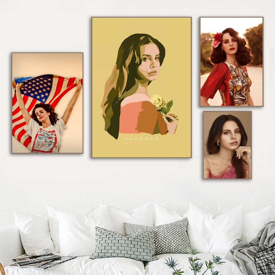 Lana Del Rey Pop Art Canvas Poster Home Wall Decor No Frame Buy At The Price Of 10 68 In Aliexpress Com Imall Com