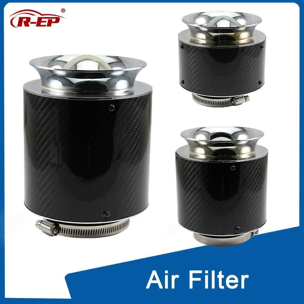 Fibra di carbonio Universale Filtro aspirazione aria fredda Filtro Auto Filtro Aria Soffietto