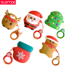 AirPods cover For apple Wireless Bluetooth Headset box case Cute Cartoon Santa Claus Elk Christmas tree glove Reindeer